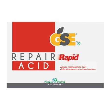 GSE Repair Rapid Acid 36 COMPRESSE - formato risparmio-Gastrite e Ulcera, GSE, Iperacidità, bruciori e difficoltà digestive, Linea GSE Stomaco, Prodotti per lo stomaco e l'intestino, Reflusso