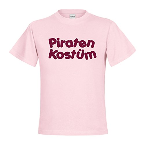 MDMA Kids Kinder T-Shirt Piraten Kostüm mdma-kt00424-278 Textil pinksixties / Motiv bordeaux Gr. 122/128 (Piraten Kostüm Shirts)