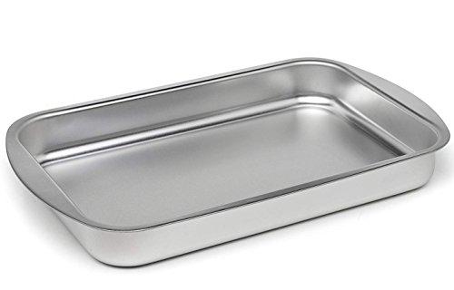 Maxi Nature Kitchenware Kleiner Bräter mit Rost Ofenblech Backbleche Tiefes Lasagne-Blech 25x17cm