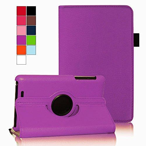 COOVY® Etui pour Google ASUS Google Nexus 7 (1. Generation Model 2012) Coque de Protection Rotation 360° Smart Housse Cover Case Stand Auto Réveil/Sommeil | Violet