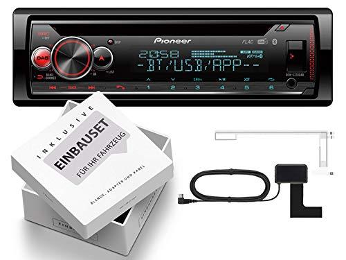 Pioneer-DEH-S720DAB-1-DIN-Autoradio-inkl-DAB-Antenne-mit-Bluetooth-passend-fr-VW-Golf-V-2003-2013