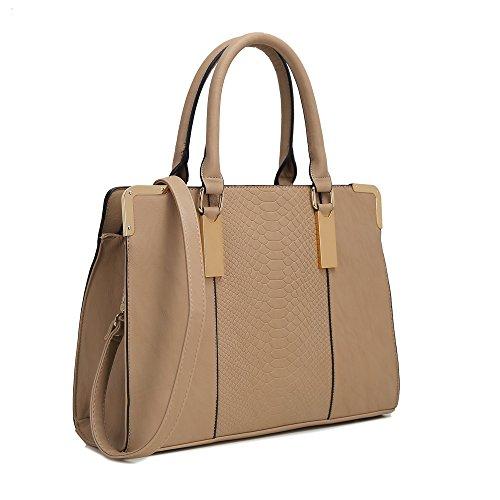HB Style, Borsa tote donna Multicolore Multicolore Beige (beige)
