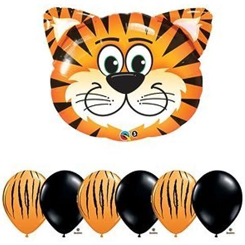 Tiger Orange Safari Jungle Zoo Animal Birthday Baby Shower Balloon Latex Set Kit by Anagram