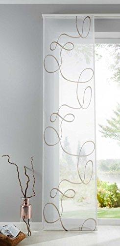 Shangrila Flächenvorhang Bursa Schiebegardine transparent Linien Muster Raumteiler HxB 245x60 cm Braun, 10000148