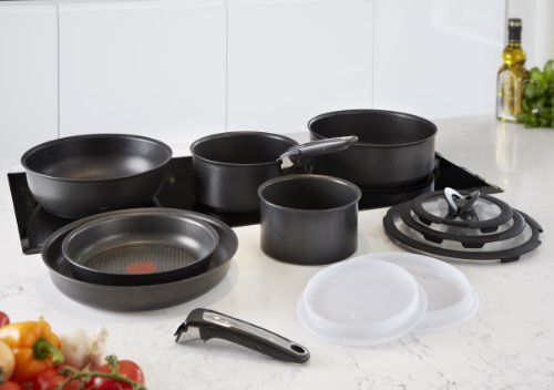 Tefal Ingenio Non-stick Induction Cookware Set, 13 Pieces – Black
