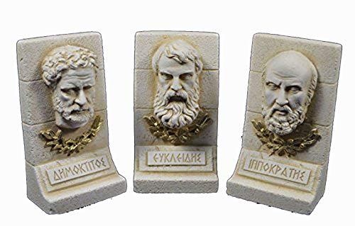 Estia Creations Demokrit Euclid Hippokrates Skulptur Antike Griechische Wissenschaftler Set