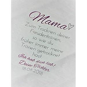 Taschentuch bedruckt Hochzeit Brauteltern Trauzeugen Geschenk