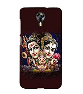 printtech Lord Shiv Parvati Family Back Case Cover for Micromax Canvas Xpress 2 E313
