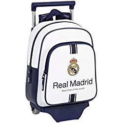 Real Madrid - Mochila Infantil Con Carro, Multicolor, 33 cm