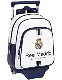 Safta Real Madrid Mochila Infantil Ruedas, Color Blanco