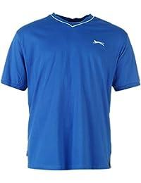 Slazenger Herren V-Ausschnitt T Shirt Kurzarm Tee Top Bekleidung