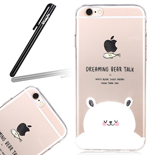 Coque Housse pour iPhone 6, iPhone 6 Silicone Coque Souple Gel Etui, iPhone 6s Transparent Clear Coque Housse, iPhone 6 Portefueille protective Coque, iPhone 6 Soft Silicone Case Slim Cover, Ukayfe Uk Cubs