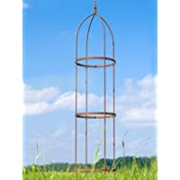 Rankgerüst 10mm Rost Obelisk Rosenhilfe H: 200cm Rankhilfe
