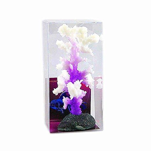 Omkuwl Leuchtende Seeanemone Aquarium Künstliche Silikon Koralle Pflanze Aquarium Dekoration lila -
