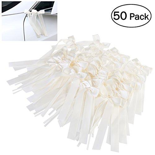 OUNONA 50pcs Autoschleifen Hochzeit Antennenschleifen Dekoration für Hochzeit