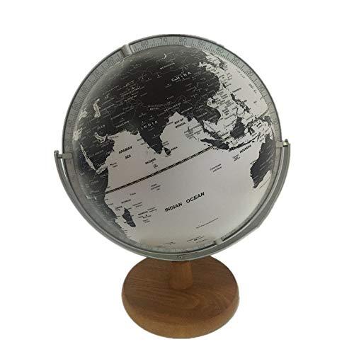WPFC Weltkugel (Durchmesser 30 cm) - Geografie Lernen/Geschenke - Metallklammern - Holzsockel - Mehrere Farben (weiß)