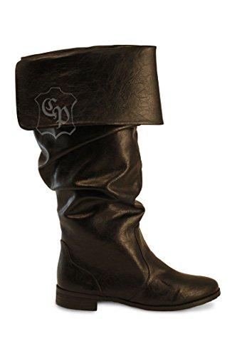 Mittelalter Stiefel Schuhe Piratenstiefel LARP Karneval Ritter Piraten Musketier (Stiefel Piraten)