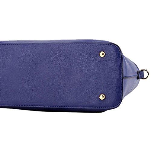 Kadcope Sacchetto di spalla di lusso del sacchetto di spalla della borsa di cuoio di Pu Sky Blue