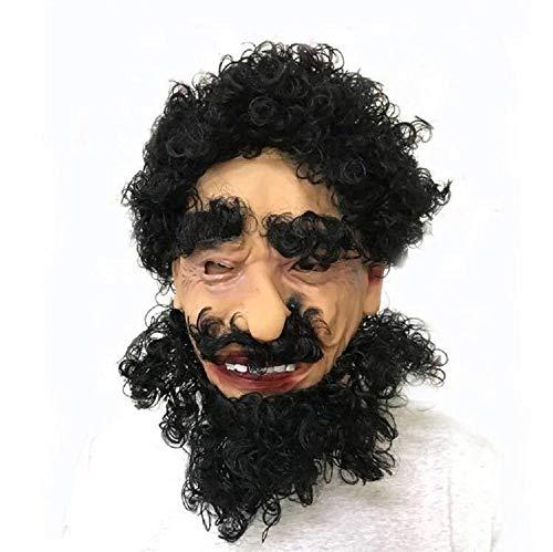 SUNWUKONG Große Nase Alte Mann Halloween Maske mit Bart Neuheit Latex Gummi Gruselige Horror Kopf Masken für Karneval Kostüm Party DREI Auswahlmöglichkeiten, 3