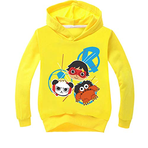 Boys & Girls Ryans Hoodie World Vlogger YouTube Toy Review Kids Captain Costumes