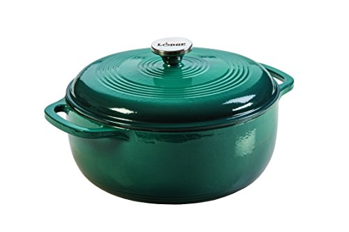 Lodge EC6D38 Enameled Cast Iron Dutch Oven, 6-Quart, Lagoon