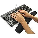 TRIXES Black Gel Wrist Rest Support Pad Wrist Rest for PC Keyboard