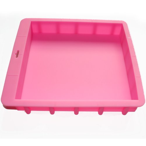 X-Haibei Loaf Square Soap Silicone Mold Pan for Swirling Soap Making Craft Hold 100oz(3kg) Soap Production by X-Haibei Square Loaf Pan