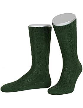 Trachtensocken zur Lederhose in dunkelgrün von Lusana