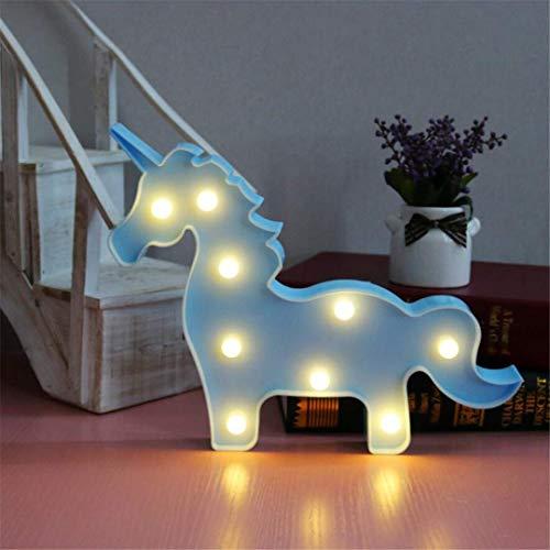 CC6 Lumière de Nuit Ins Props Bleu Licorne Tête Tir Décoratif Lumières LED Lampe de Bureau Mignon Chambre des Enfants Styling Nuit Lumière Rêve Tenture Murale