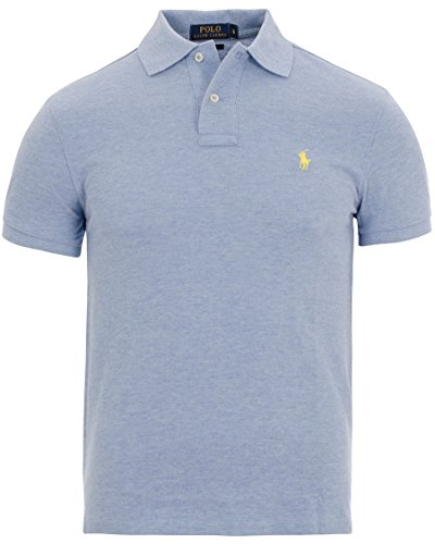 Ralph Lauren Herren Kurzarm Poloshirt - Classic Fit - Premium Cotton Teal (Jamaica Heather)