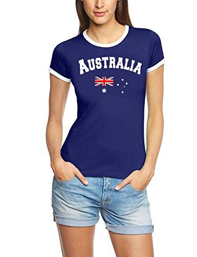 Australien T-Shirt Damen navy, Gr.M