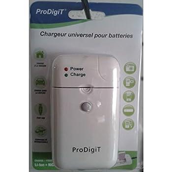 ProDigit CHU-USB-PDT Chargeur Universel pour Appareil photo Blanc
