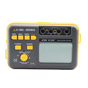 Victor VC60B+ Mégohmmètre Testeur de résistance d'isolement numérique Megger Megohm Meter DC250/500/1000V AC750V 0.1~2000M