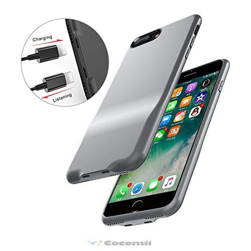 Cocomii Duo Lightning Audio Armor iPhone 8 Plus/7 Plus Hülle NEU [Dual Lightning Jack Adapter Hülle] Anruf+Audio+Ladegerät Laden Und Musik Hören Case Schutzhülle for iPhone 8 Plus/7 Plus (Duo.Gray) Duo Shield Armor Case