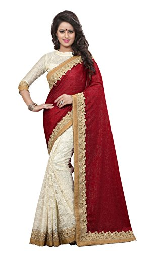 Chigy Whigy Red Velvet party wear Sarees