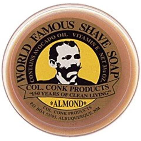 Colonel Conk Glycerin Shave Soap Almond (106g) by Colonel