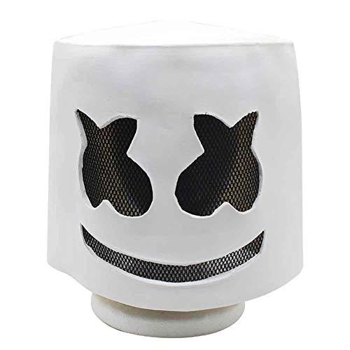 tronic Sound Festival Marshmallow DJ Kopfbedeckung Marshmello Kopfbedeckungsmaske Cos Halloween Parade ()
