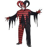 Mens gotico folle Killer Clown Costume da giullare XL (44-46