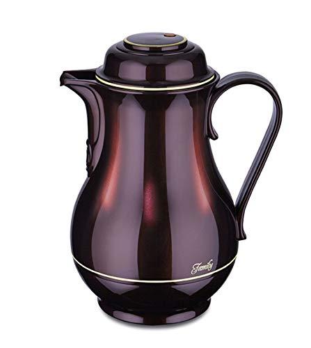 ROTPUNKT Isolierkanne 830 1,2 Liter   Doppelwandige Vakuumisolierung   Zweifunktions-Drehverschluss   BPA Frei- gesundes Trinken   Made in Germany   Warm + Kalthaltung   Glaseinsatz (Black Cherry)
