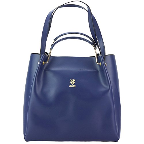 Borsa Eleonora - 8051 - Borse in pelle - borse da donna Blu jeans