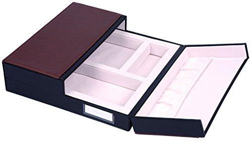 Präsentationsbox Übergabebox Verkaufspräsentation Brillen Optik Uhren Schmuck (braun/creme) -