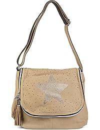 d59796471 styleBREAKER bolso de bandolera con estrella de estrás y piedras brillantes  all over en la tapa