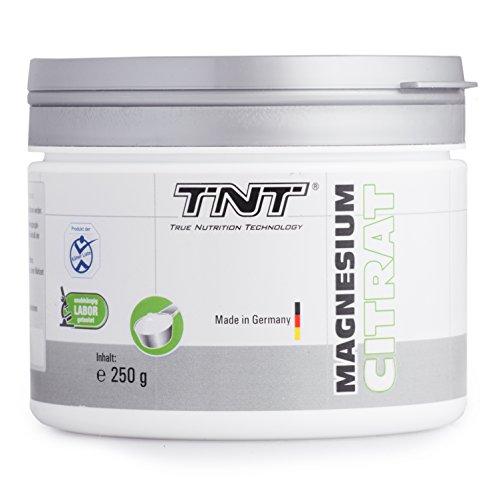 TNT Magnesium-Citrat Pulver für einen gesunden Körper | Deutsche Premium Qualität |Magnesium hochdosiert für Sport, Fitness und Nahrungsergänzung im Alltag | 250g Dose (Neutral)