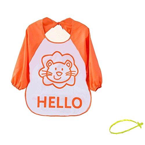 bavoirs-covermason-enfant-cartoon-translucide-tablier-impermable-pinny-orange