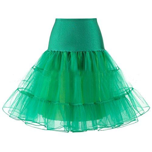 URVIP Wedding Bridal 1950 Petticoat Reifrock Unterrock Petticoat Crinoline für Rockabilly Kleid Grün Small (Rockabilly Kostüm Mieten)