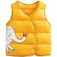 LSERVER Mittlere und Kleine Kinder Herbst und Winter Warme Daunen Baumwolle Kleidung Weste