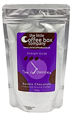 Double Chocolate Flavoured Ground Coffee 250g - Premium Roast Flavour by The Little Coffee Box Co