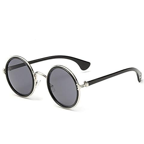 Z-P Unisex Wayfarer New Style Retro Round Metal Frame Color Lens Sunglasses
