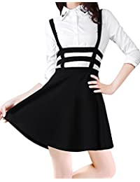 Sanwood Elastic Waist Cut Out Suspender Skirt