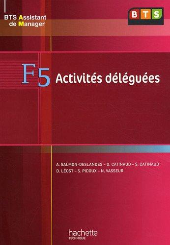 F5 activités déléguées BTS assistant de manager